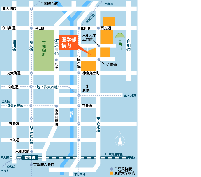Yoshida Campus map